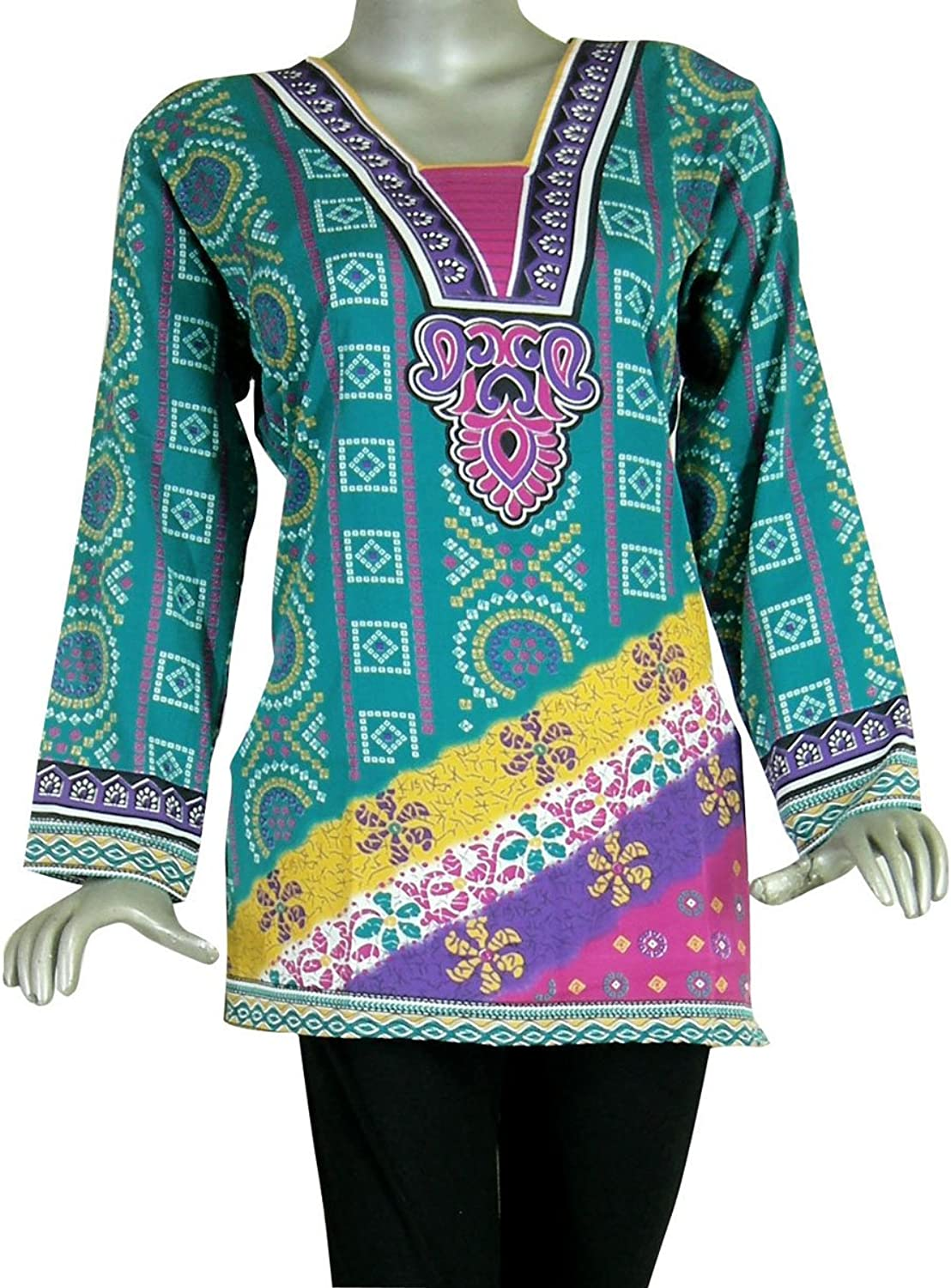 Panini Impex India Clothing Printed Crape Kurti Shirt Top