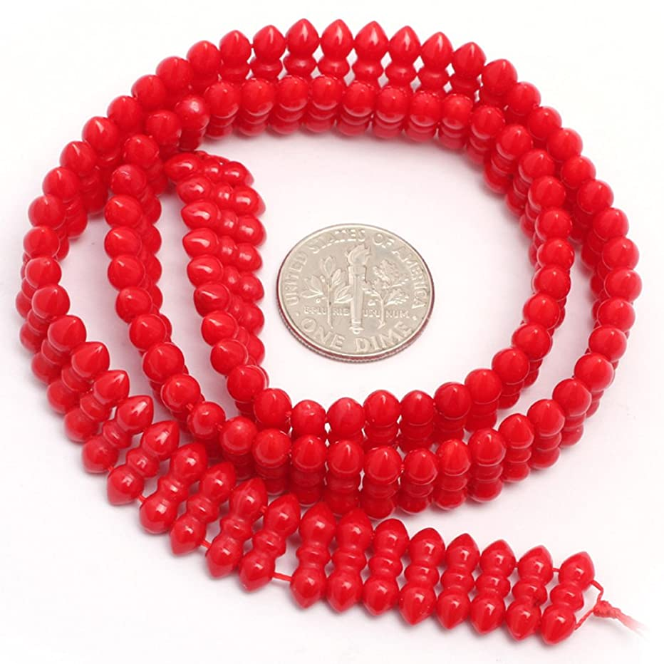 Red Coral Beads for Jewelry Making Gemstone Semi Precious 4x11mm 15