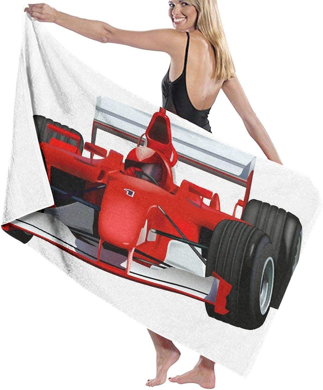 OFFicial shop Sale Beach Towels Oversized Microfiber Bath Race Car Formula w