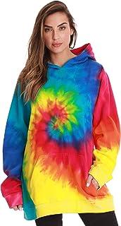#followme Tie Dye Pullover Hoodie for Women Fleece Hooded Sweatshirt