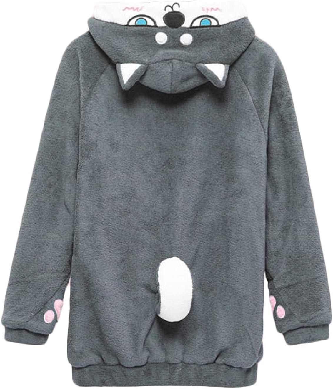 San Antonio Mall BAIMORE Home Wear Max 57% OFF Clothes Hoodie Cute Celvet Lo Coral Sweatshirt