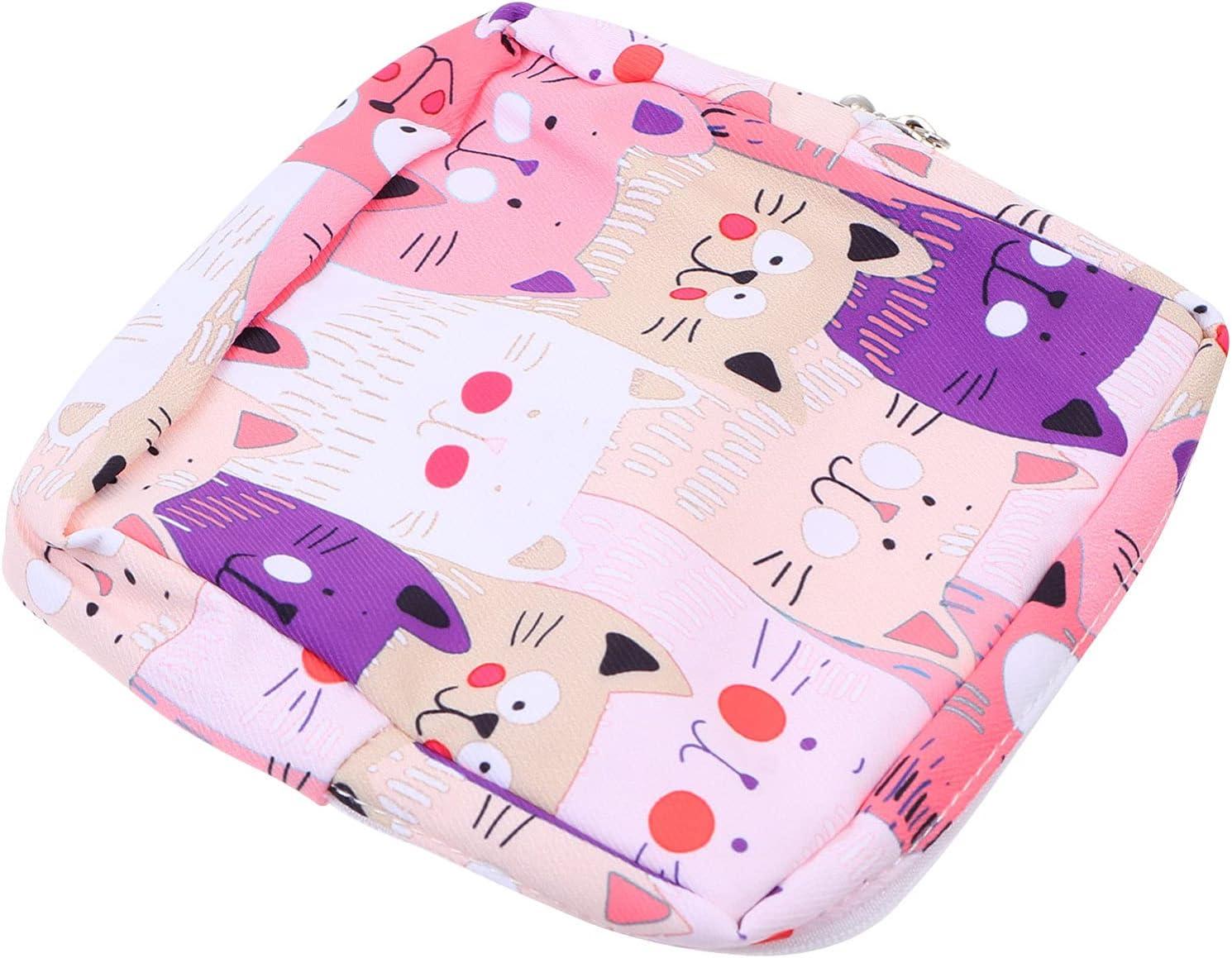 ARTIBETTER Courier shipping free 1 Pcs Sanitary Napkin Printed Menstru Ranking TOP4 Storage Bag Cat