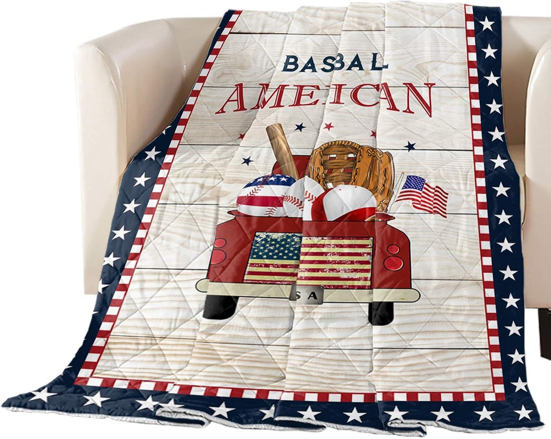 Comforter Duvet Insert Home Quilt- American Popular brand Flag Baseball Fort Worth Mall Tr Red