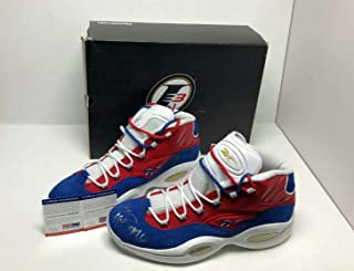 reputable site b5ac7 2a4b9 Allen Iverson Signed Reebok Question Mid Basketball Shoes