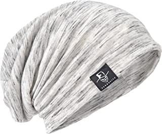 Men's Chic Striped Thin Baggy Slouch Summer Beanie Skull Cap Hat