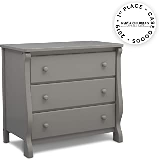 Delta Children Universal 3 Drawer Dresser, Grey