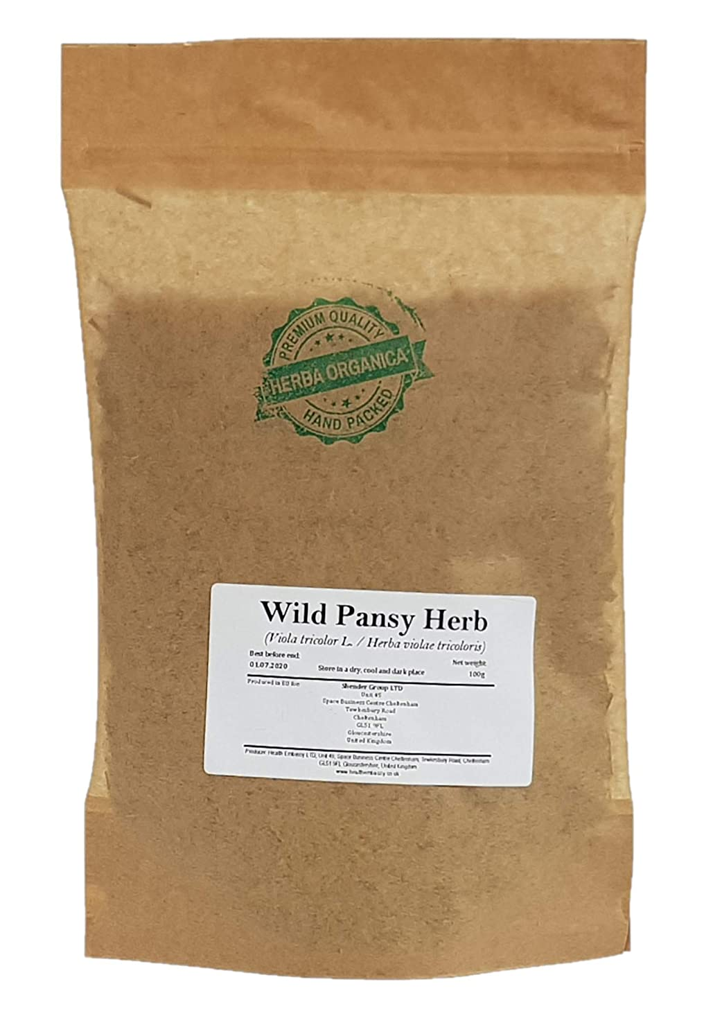 Wild Pansy Herb - Viola Tricolor L # Herba Organica # Johnny Jump Up, Heartsease (100g)