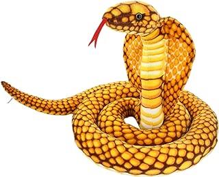 JESONN Realistic Giant Stuffed Animals Naja Nivea Cape Cobra Plush Toys Snake,98