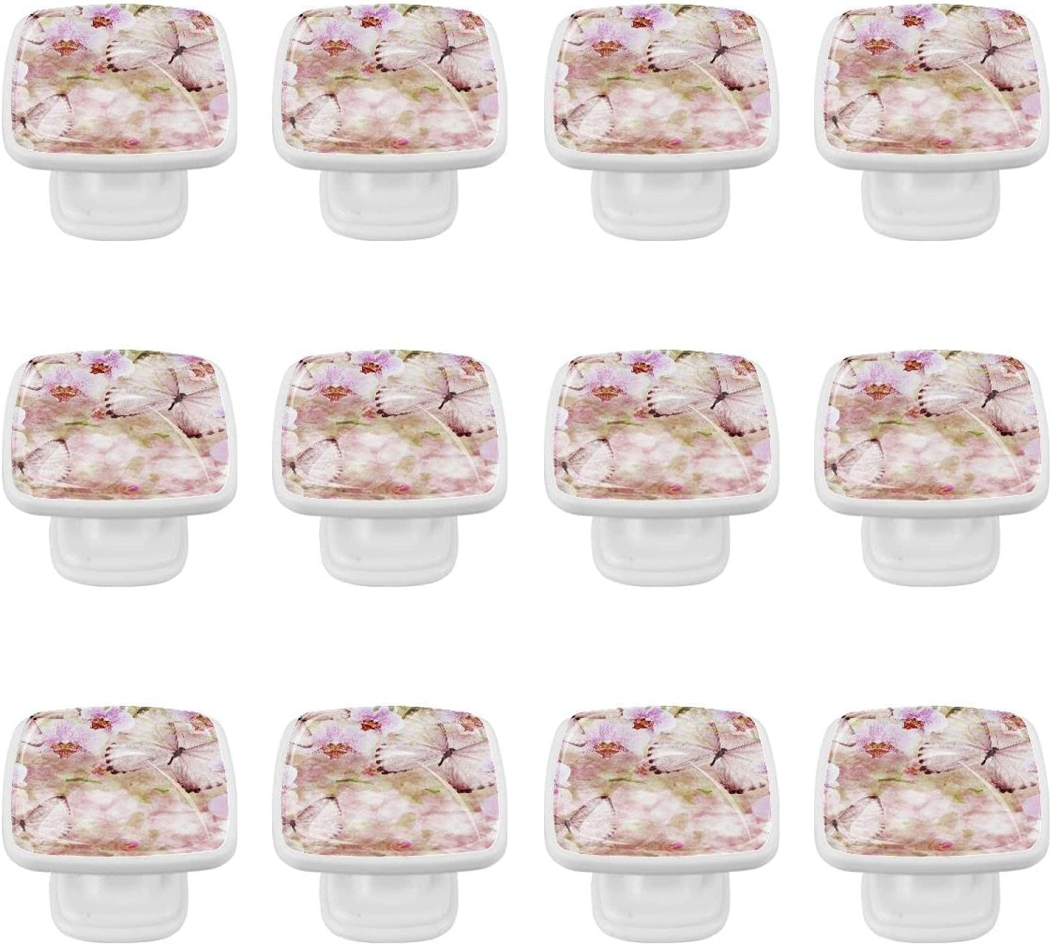 Kitchen Cabinet Los Angeles Direct sale of manufacturer Mall Knobs - Butterfly Inch Orchid Pink 1.18 Flower