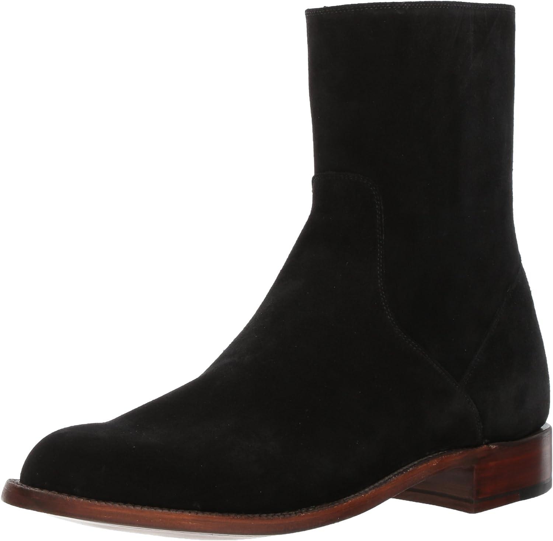 Lucchese Bootmaker Men's Jonah Ankle Boot, Black, 10.5 D US