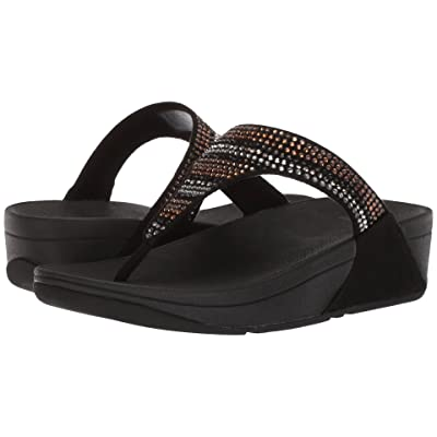 FitFlop Strobe Luxe Toe-Thong Sandals (Black) Women