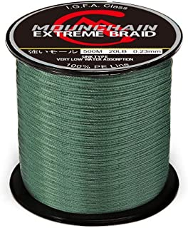 Mounchain 100% PE 4 Strands Braided Fishing Line,  10 20 30 40 LB Sensitive Braided Lines,  Super Performance and Cost-Effective,  Abrasion Resistant