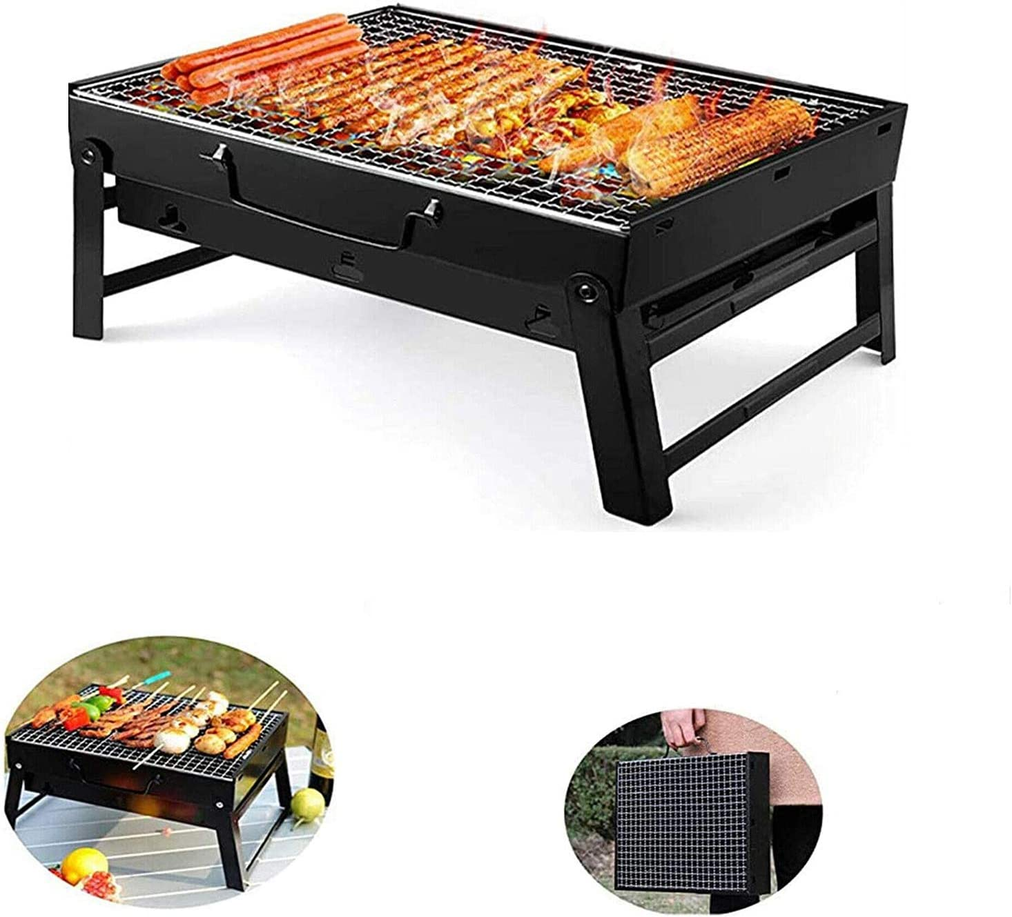 Smokeless Barbecue Tool Kits for Outdoor Picnic Patio Backyard Camping Cooking 89x37x36cm FlyingBanana001 Electric Rotator Grill Portable BBQ Barbecue Rotating Grill