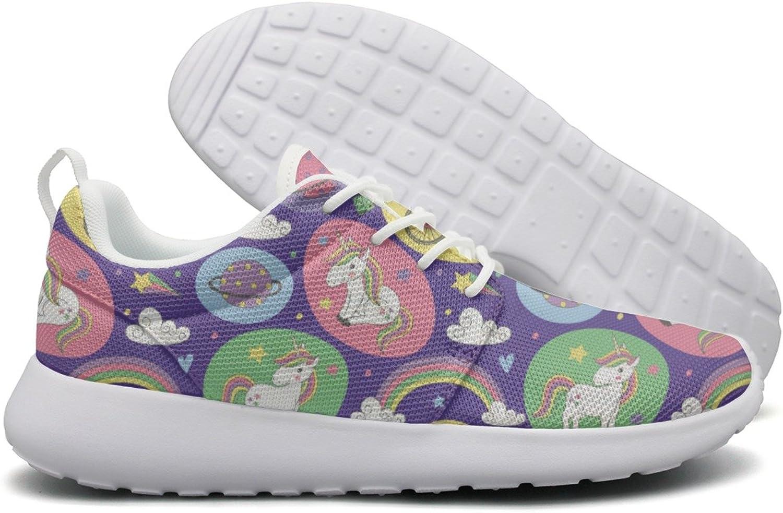 ERSER Purple Star Magic Rainbow Unicorn Long Distance Running shoes Women