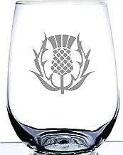 scottish thistle wine glasses