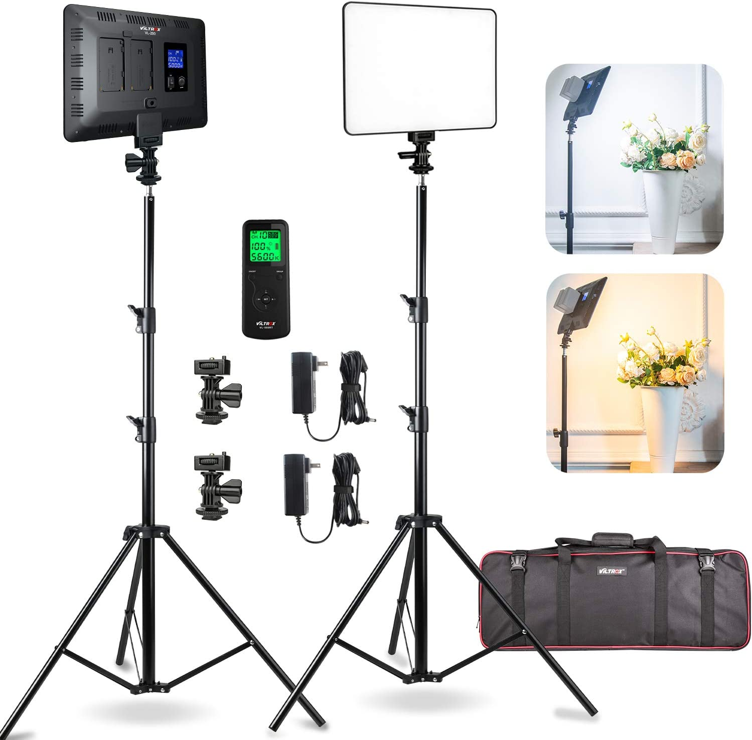 2 Packs LED Video Photography Lights Panel Studio Kit Louisville-Jefferson County Mall Lighting Excellence