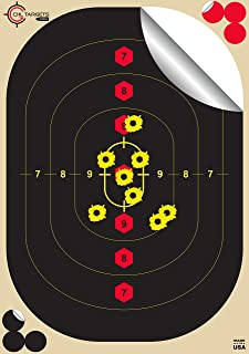 "CHLTargets.com Reactive Targets (Peel-and-Stick - Adhesive Target) Tactical Training Target - Biggest Reactive/Splatter Effect Providing Visual Feedback & Easy Hit Identification 18"" H x 12"" W"