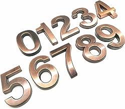 Huisborden 1 st 3D Numeral Deurplaat Huisnummers Lade Teken Plating Gate Cijfers 0 tot 9 Plastic Tag Hotel Home Sticker Ad...