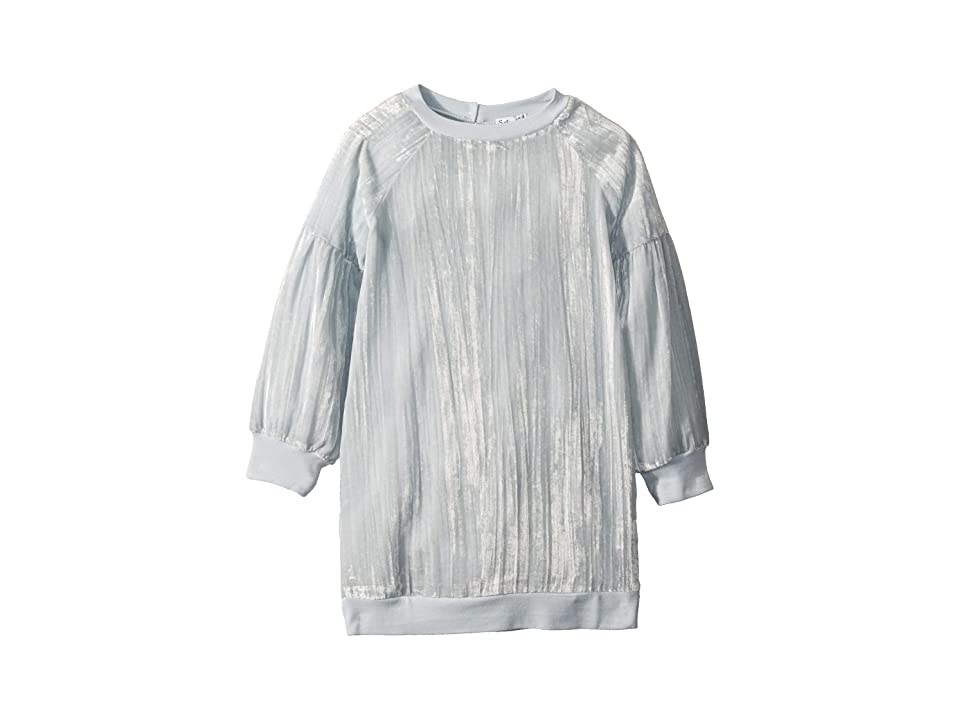 Splendid Littles Crinkle Velvet Dress (Little Kids) (Ballad Blue) Girl