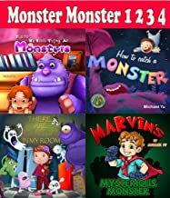Monster monster 123 - 4 children bedtime stories picture books including how to catch a monster