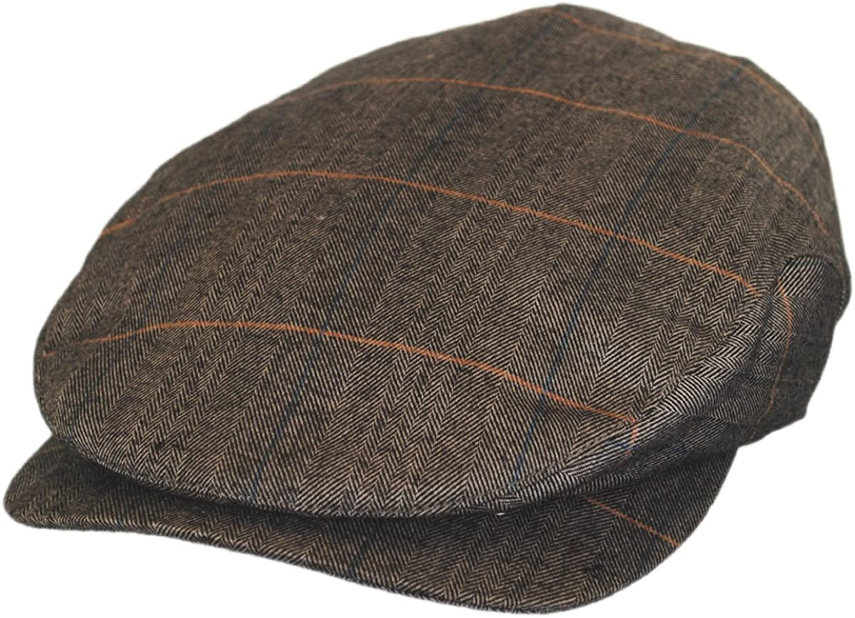 Hoxton Herringbone Plaid Wool Ivy Cap Blend El Max 83% OFF Paso Mall