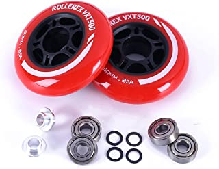 Rollerex 2-Pack for Any Product Using Inline Skate Wheels 92A LED Light-Up Wheels w//Bearings Multiple Size and Color Options Available