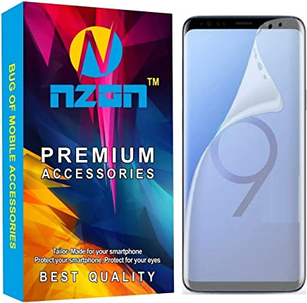 nzon for Samsung Galaxy S9 Screen Protector [Edge to Edge][Dot Free][Full Curved][Anti Glare][Scratch Proof][Bubble Free] Screen Protector Guard for Samsung Galaxy S9 - Clear