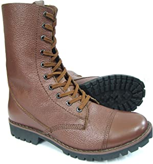 ASM Full Leather 10 Inches Long Boot, Leather Linning & Socks, Heavy Duty TPR (Thermo Plastic Rubber) Sole & Memory Foam Cushioning for Men & Women Article 603B, 6 to 11