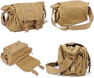 Tubackpack DSLR Camera Micro SLR Photo Bag for Single Shoulder Waist Pack Cross Body Lenses (Khaki)