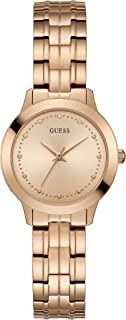 Guess Womens Quartz Watch, Analog Display and Stainless Steel Strap W0989L3