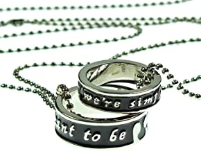 Bioworld Disney The Nightmare Before Christmas Jack Sally Necklace Ring Set Meant to Be