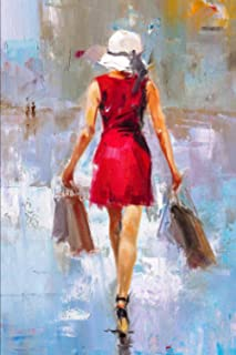 2021 Pocket Sized Weekly Planner: Pretty Shopping Girl in Red Dress | Fashion Painting | 1 Yr | Pocket Purse Sized | Jan 1...