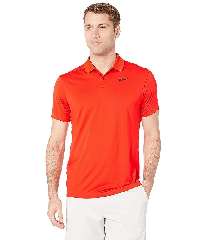 Nike Golf Dri-FITtm Victory Polo (Habanero Red/Black) Men