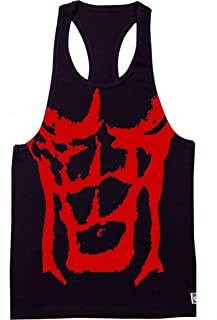 Crazee Wear Dream Physique Black/grey/red Tank Top