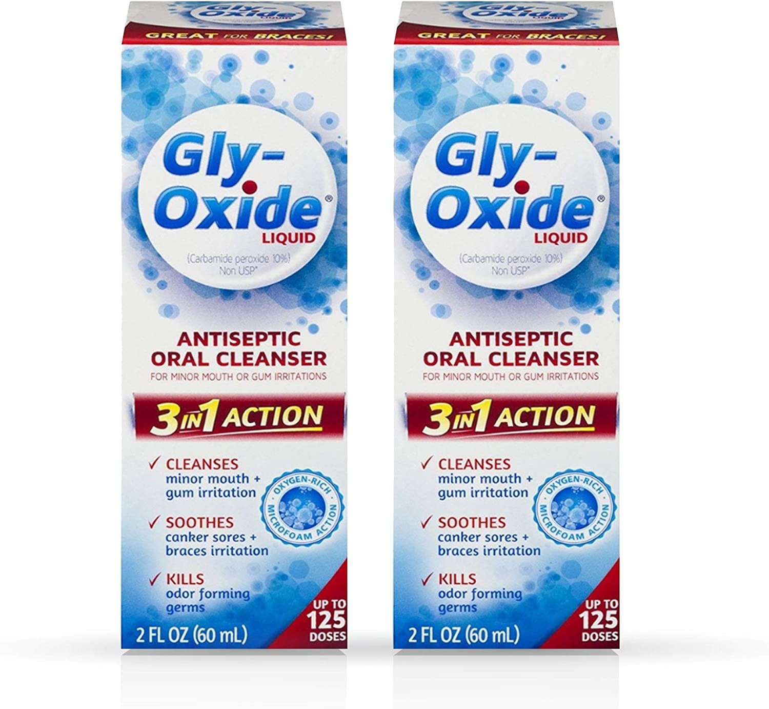 Gly-Oxide Liquid Antiseptic Oral Cleanser Super sale fl Fresno Mall Pack 2 of oz