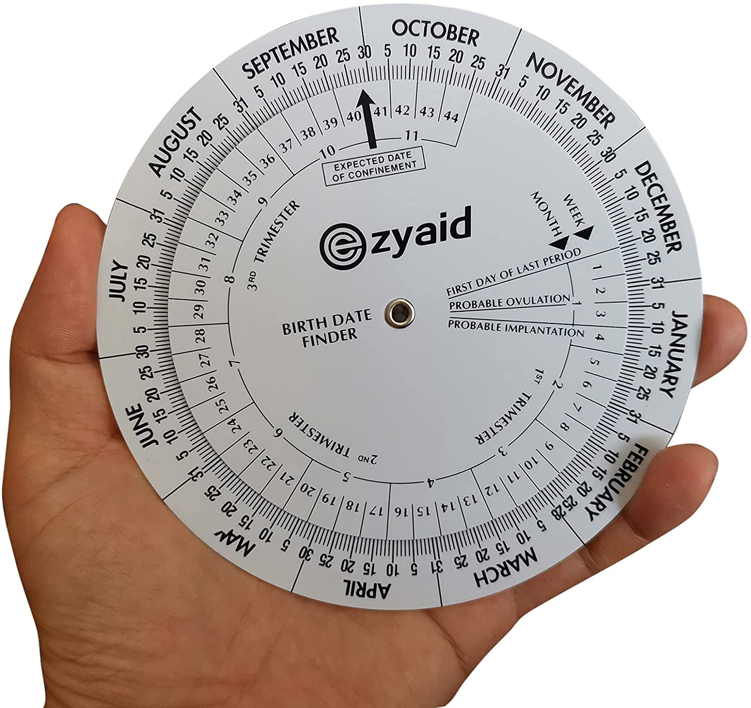 Ezyaid Pregnancy Wheel, Pregnant Due Date Calculator for OB-GYN, Gestation Wheel Calculator for Midwives, Nurses, Patients, and Doctors