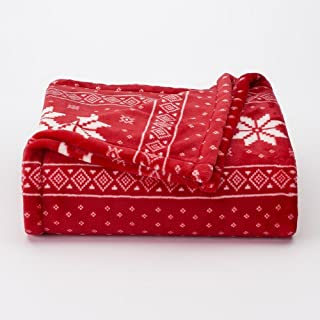 Soft oversized Microplush Blanket, Fairisle
