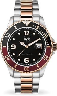 ICE-WATCH - Ice Steel Chic Silver Rose-Gold, Reloj Plateado con Correa de Metal