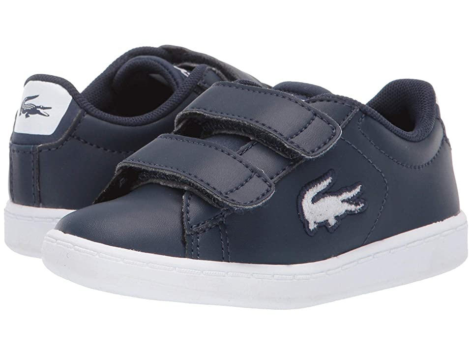 Lacoste Kids Carnaby Evo (Toddler/Little Kid) (Navy/White) Kid