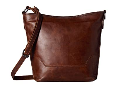 Frye Melissa Small Hobo (Dark Brown) Handbags