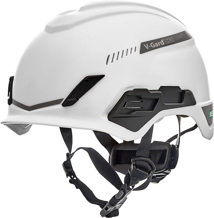 Elmetto di sicurezza per arrampicata - ventilato - bianco - 52-64 cm msa v-gard h1 trivent 10194783