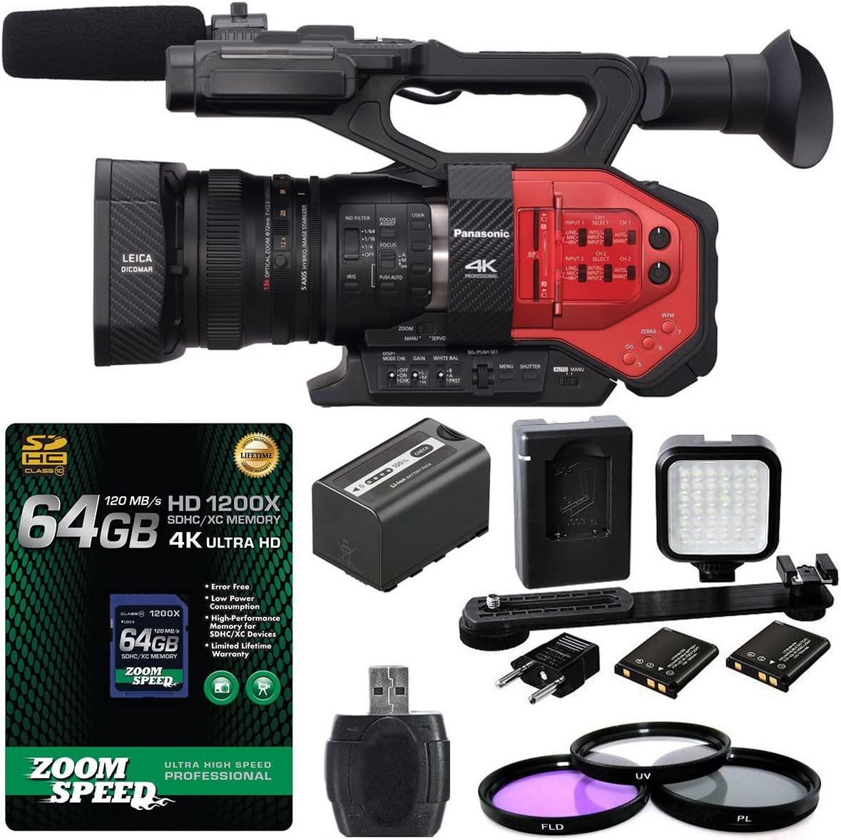 Panasonic Shipping included AG-DVX200 4K Handheld Camcorder Spasm price Four Senso with Thirds