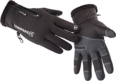 GORELOX Winter Warm Gloves,Touchscreen Cold Weather Driving Gloves Windproof Anti-Slip Sports Gloves for Cycling Running Skii