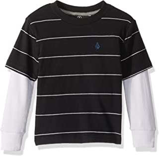 Volcom Little Boys' Joben Two Fer Long Sleeve Polo Shirt