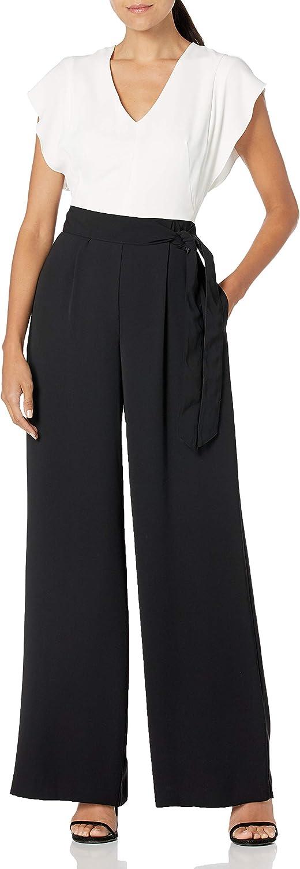 Eliza J Women's Short Award-winning store Jumpsuit Two-Tone Sleeve overseas