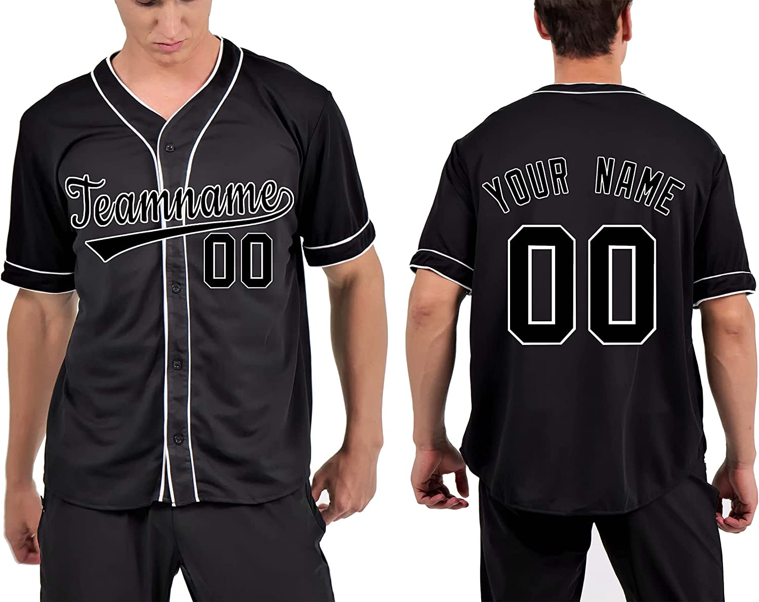 Mowbeat Genuine Custom Button-Down Baseball Personalized Printed Max 83% OFF Jerseys