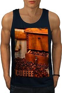 Wellcoda コーヒー 豆 新鮮な フード 男性用 S-2XL タンクトップ