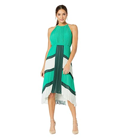 Ted Baker Nellina Dip Hem Pleated Dress (Green) Women