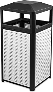 BestEquip Garbage Can 15 Gallon Trash Cans Commercial Outdoor Trash Can for Coffee Houses Campuses and Parks
