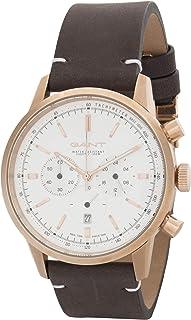 ساعة يد للرجال من غانت برادفورد، مينا ابيض وسوار جلدي، G Gww064001، انالوج، حركة ميوتا 0S20 10Z